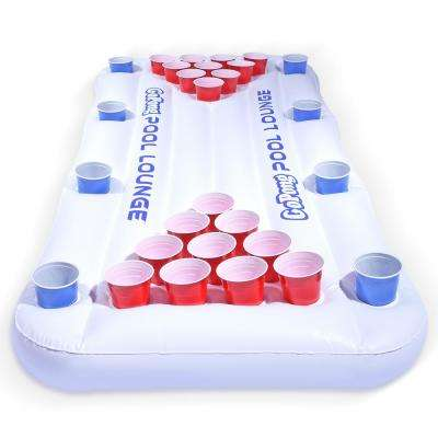 Pool Lounge Beer Pong Inflatable with Social Floating