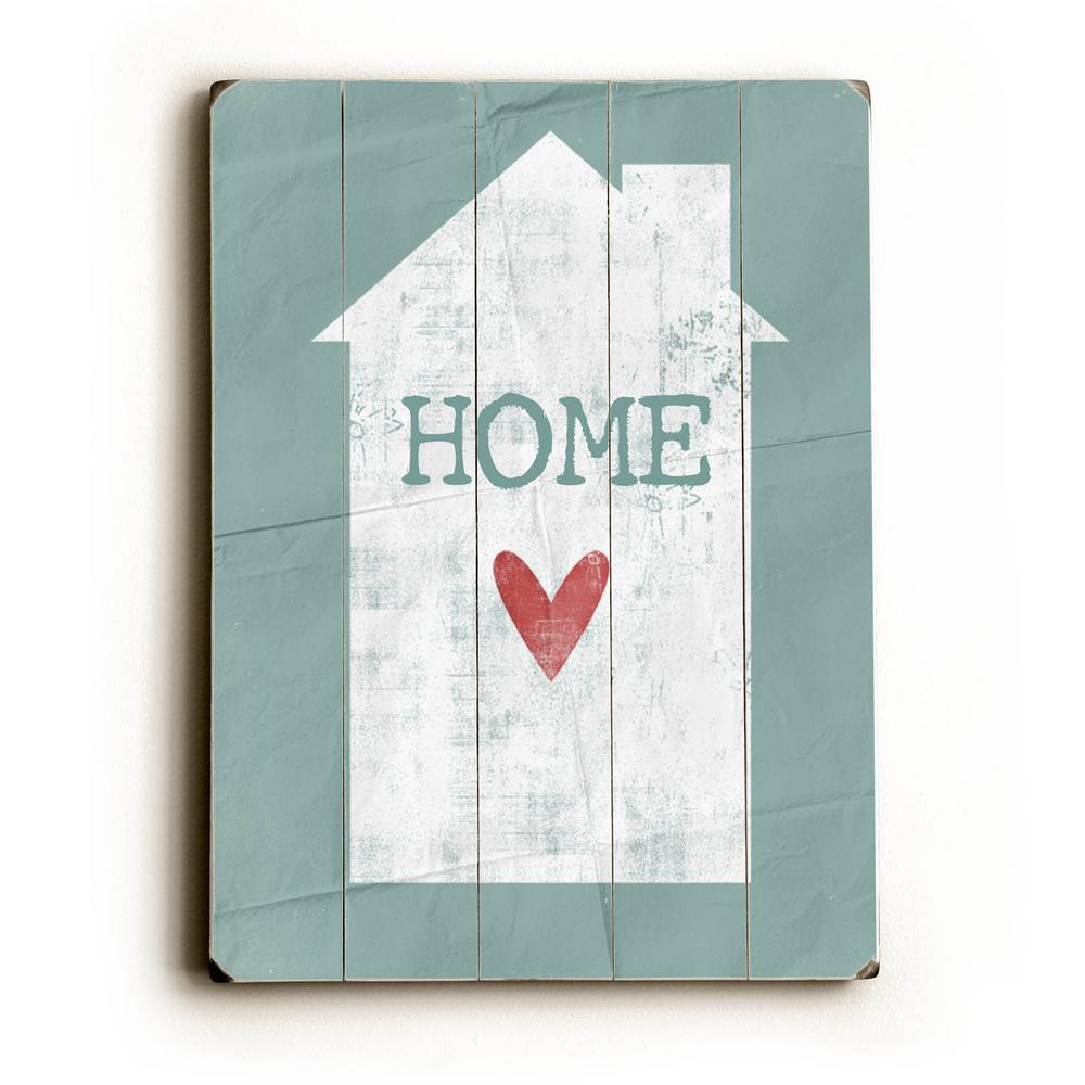 """12 in. x 16 in. """"Home"""" by Cheryl Overton """"Planked Wood"""" W..."""