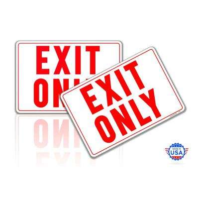7 in. x 10 in. Exit Sign Stickers Reflective UV Protected Decals (2-Piecs)