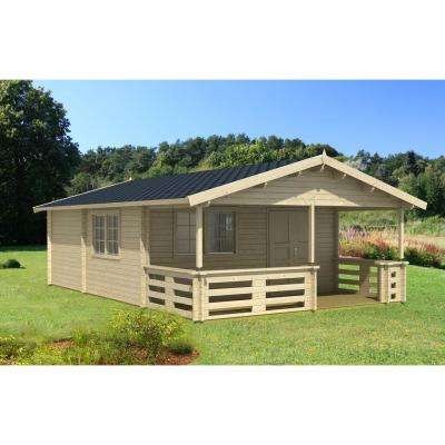 Tormes Eco 40 17 ft. 4 in. x 27 ft. 2 in. Wood Log Workshop Hobby Recreation Office Storage Building