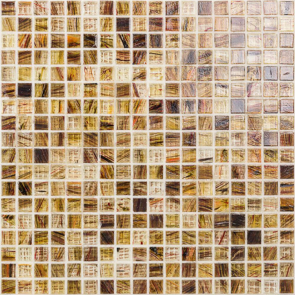 Ivy Hill Tile Breeze Rusty Leaves 12-3/4 in. x 12-3/4 in. x 6 mm Glass Mosaic Tile