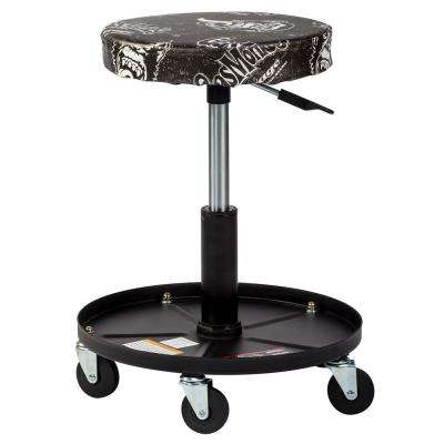 Pneumatic Garage Chair with Tool Tray - 5 Rolling casters with 300 lbs. Capacity