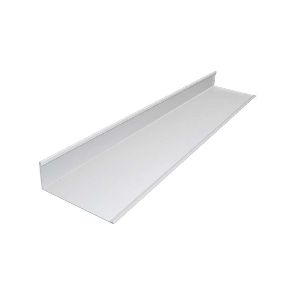 7.5 in x 2.625 in. x 5 ft. Aluminum Rain Diverter Flashing