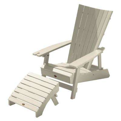 Manhattan Beach Whitewash 2-Piece Recycled Plastic Outdoor Seating Set with Wine Glass Holder