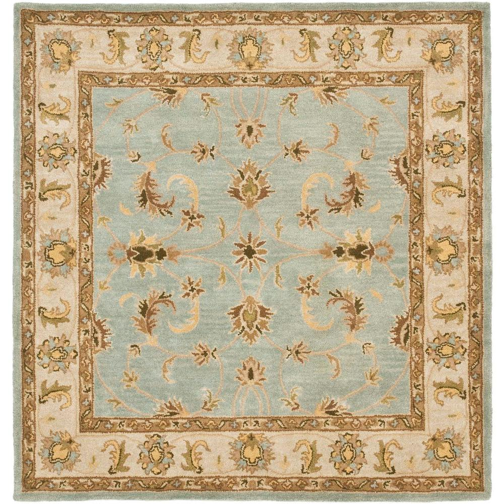 Safavieh Heritage Light Blue Beige 6 Ft X 6 Ft Square