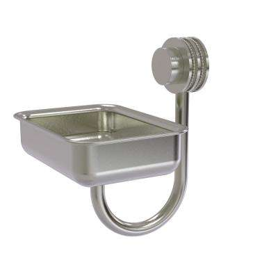Venus Collection Wall Mounted Soap Dish with Dotted Accents in Satin Nickel