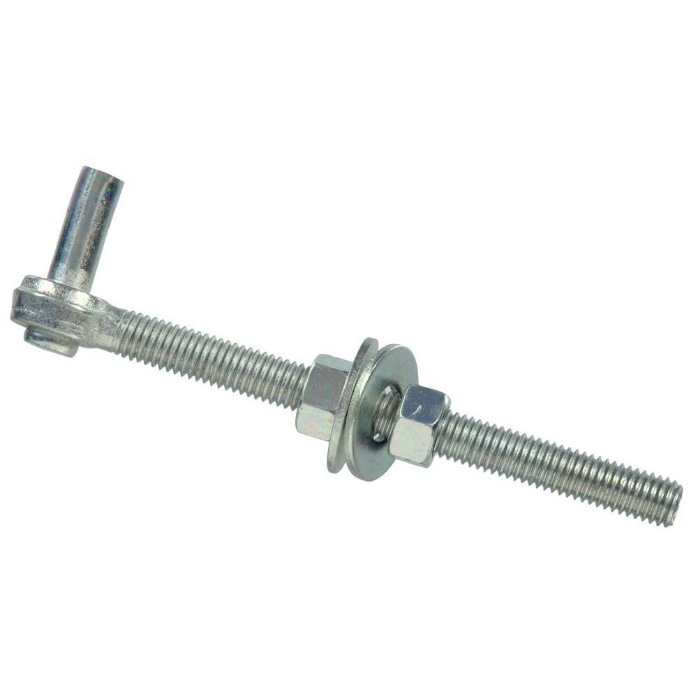 3/4 x 12 in. Gate Bolt Hook in Zinc-Plated (5-Pack)