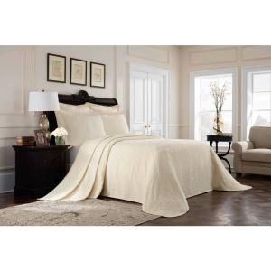 Williamsburg Richmond Ivory Solid King Coverlet
