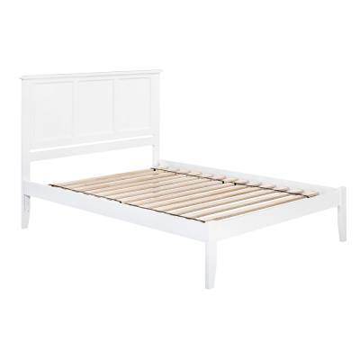Madison King Platform Bed with Open Foot Board in White