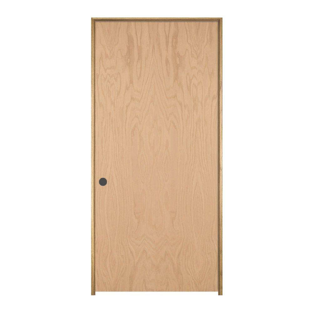 Oak Unfinished Right Hand Flush Wood Single Prehung Interior Door