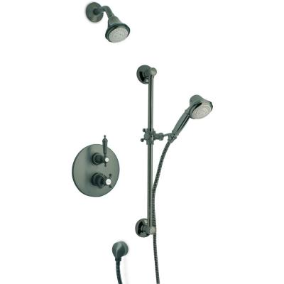 Ornellaia 3-Spray Wall Bar Shower Kit with Shower Faucet and Handheld Shower in Oil Rubbed Bronze (Valve Included)