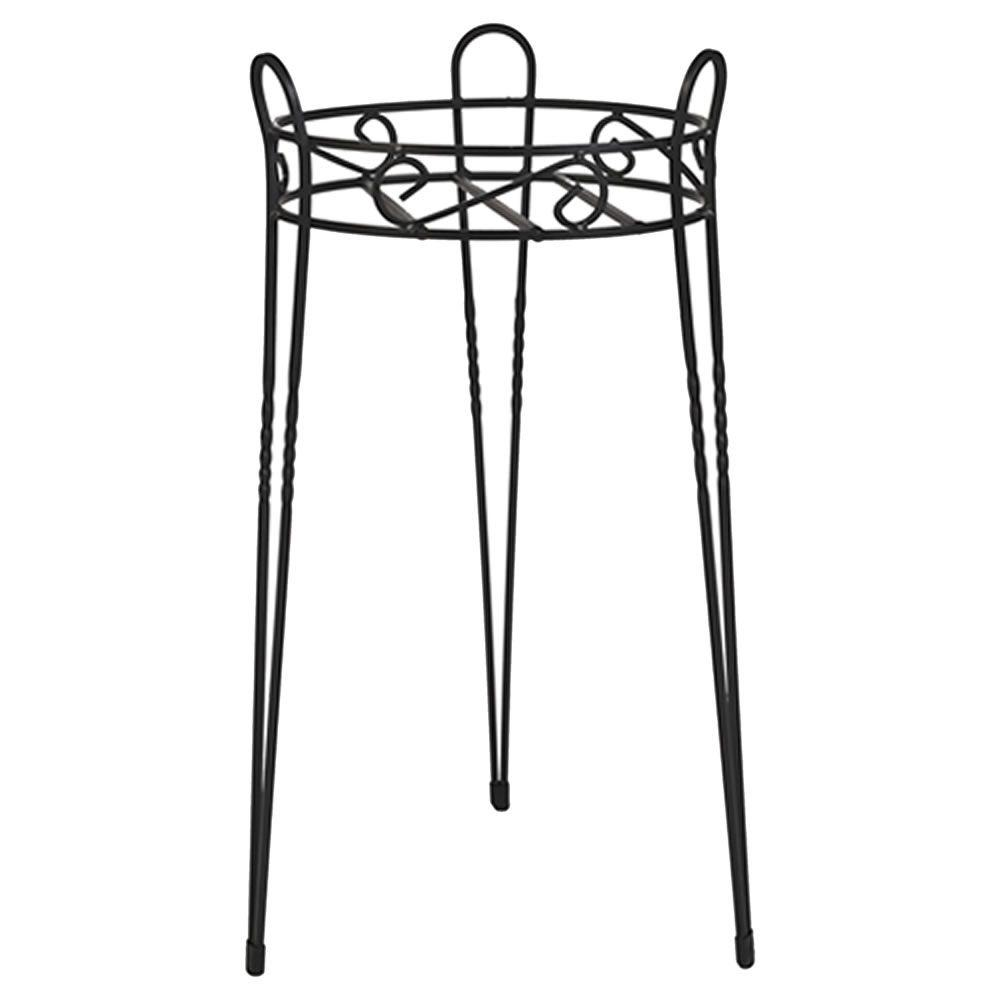 21 in. Canterbury Scroll Top Metal Plant Stand