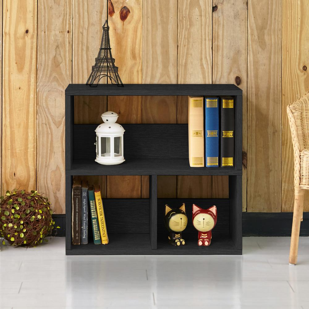 Collins 2-Shelf Black Eco zBoard Stackable Tool-Free Assembly Bookcase Storage