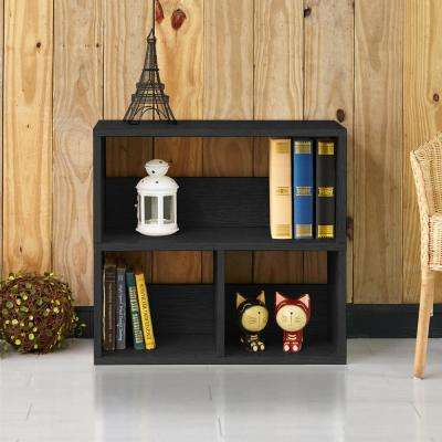 Collins 2-Shelf Black Eco zBoard Stackable Tool-Free Assembly Bookcase Storage Organizer