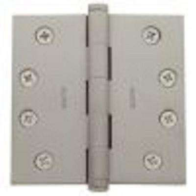 4 in. x 4 in. Satin Nickel Square Hinge