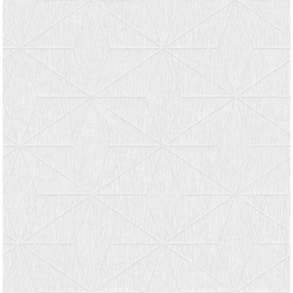 Bernice White Geometric Wallpaper