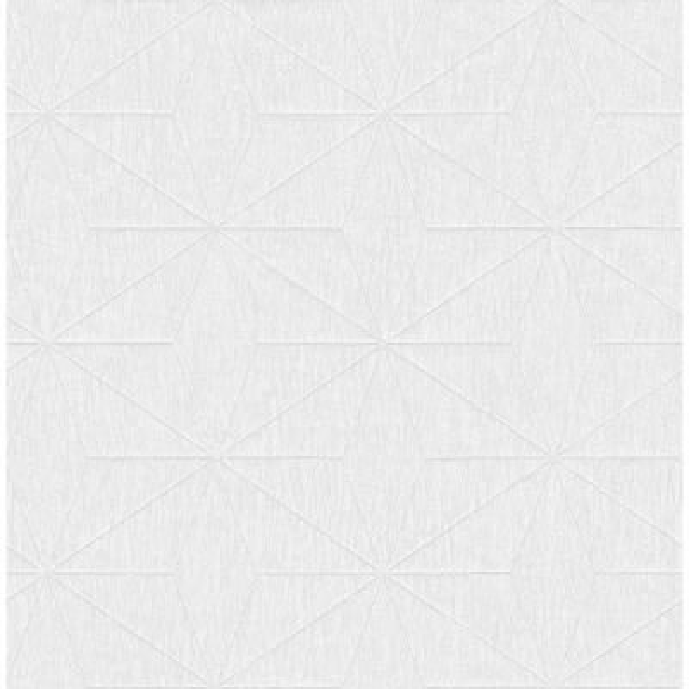 Bernice White Geometric Wallpaper Sample