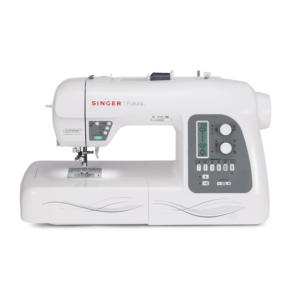 SINGER SEWING CO. Futura 215-Stitch Sewing Machine With A...