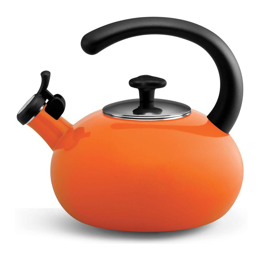 Rachael Ray 8-Cup Curve Teakettle in Orange
