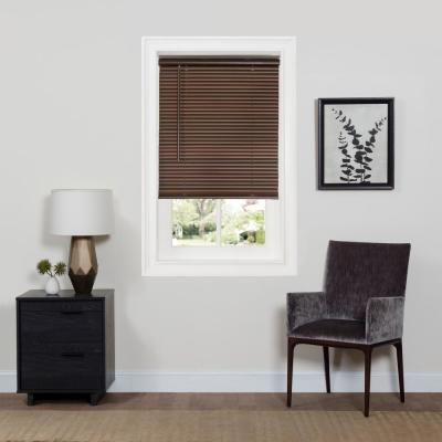 GII Deluxe Sundown Mahogany Cordless Room Darkening Vinyl Mini Blind with 1 in. Slats 36 in. W x 64 in. L
