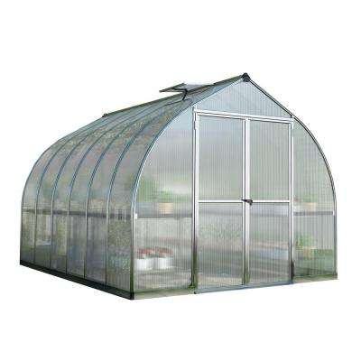 Bella 8 ft. x 12 ft. Silver Polycarbonate Greenhouse