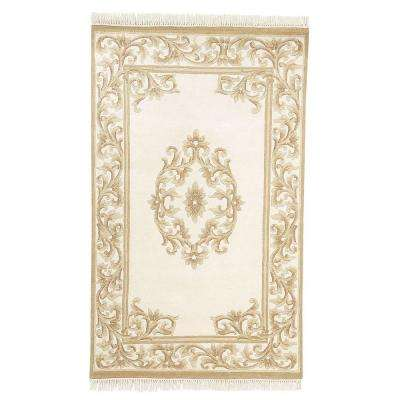 Filigree Aubusson Gold 3 ft. 6 in. x 5 ft. 6 in. Area Rug