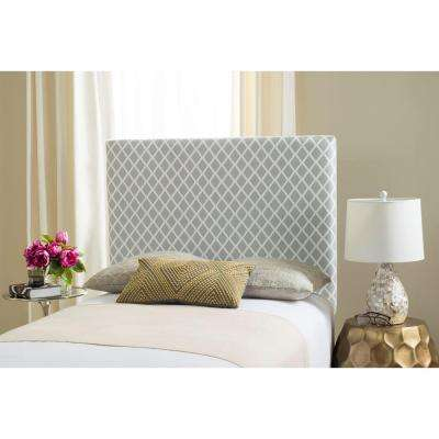 Sydney Grey & White Lattice Twin Headboard