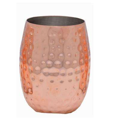 16 oz. Double Wall Hammered Copper Tumbler (4-Pack)