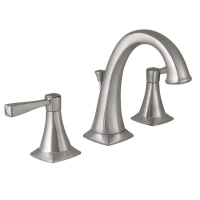 Perth 8 in. Widespread 2-Handle Bathroom Faucet in Satin Nickel