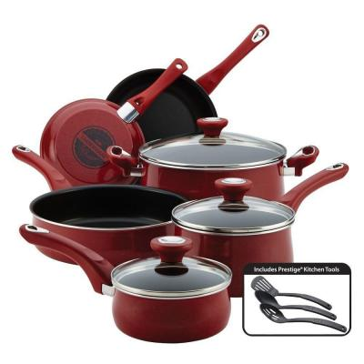 New Traditions 12-Piece Red Cookware Set with Lids
