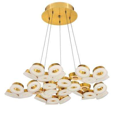 Glendale Collection 30-Light Gold LED Chandelier