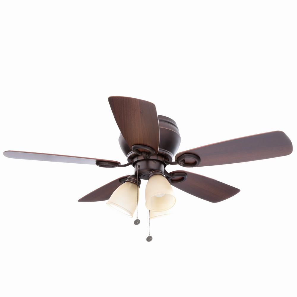 Hampton bay whitlock 44 in led indoor mediterranean bronze ceiling led indoor mediterranean bronze ceiling fan with light kit aloadofball Image collections