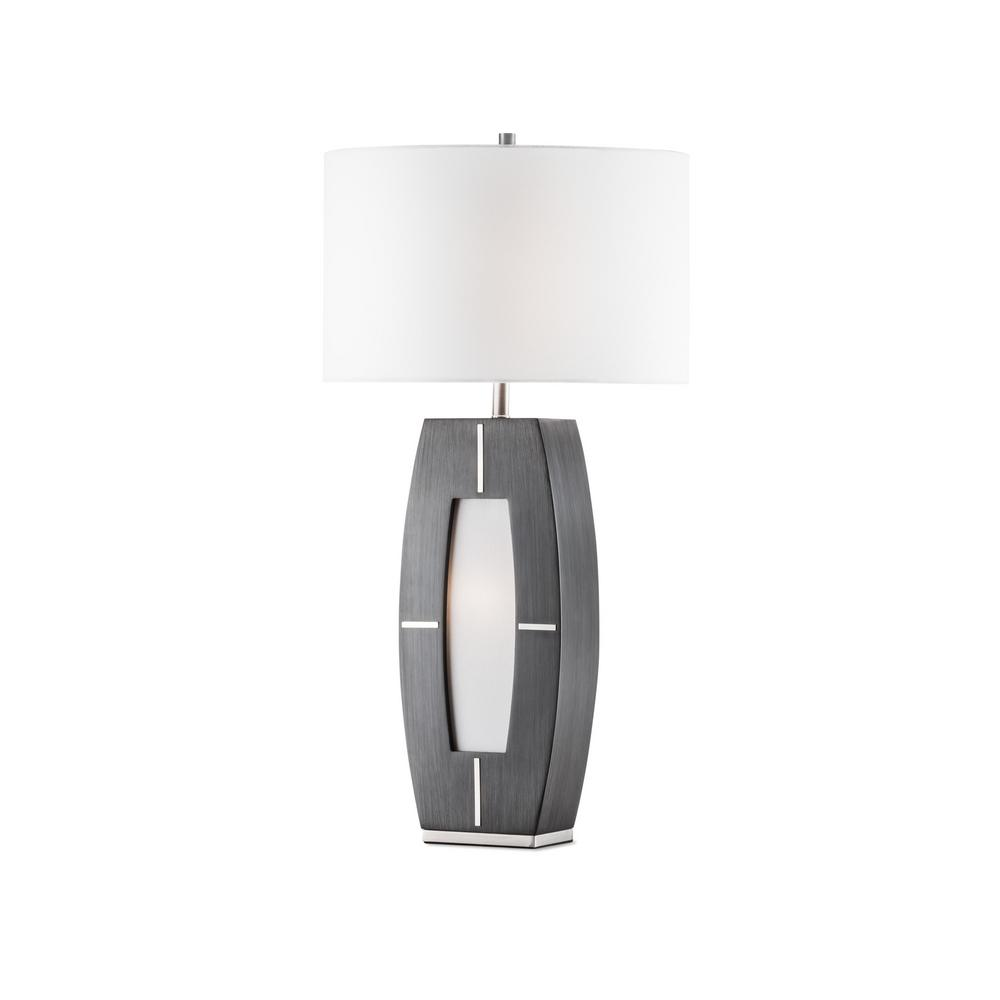 NOVA of California Delacy 30 in. Charcoal Gray Table Lamp