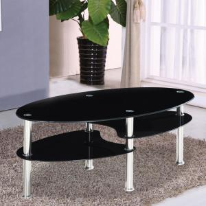 Fabulous Home Source Black Oval Multi Tiered Coffee Table Ocoug Best Dining Table And Chair Ideas Images Ocougorg