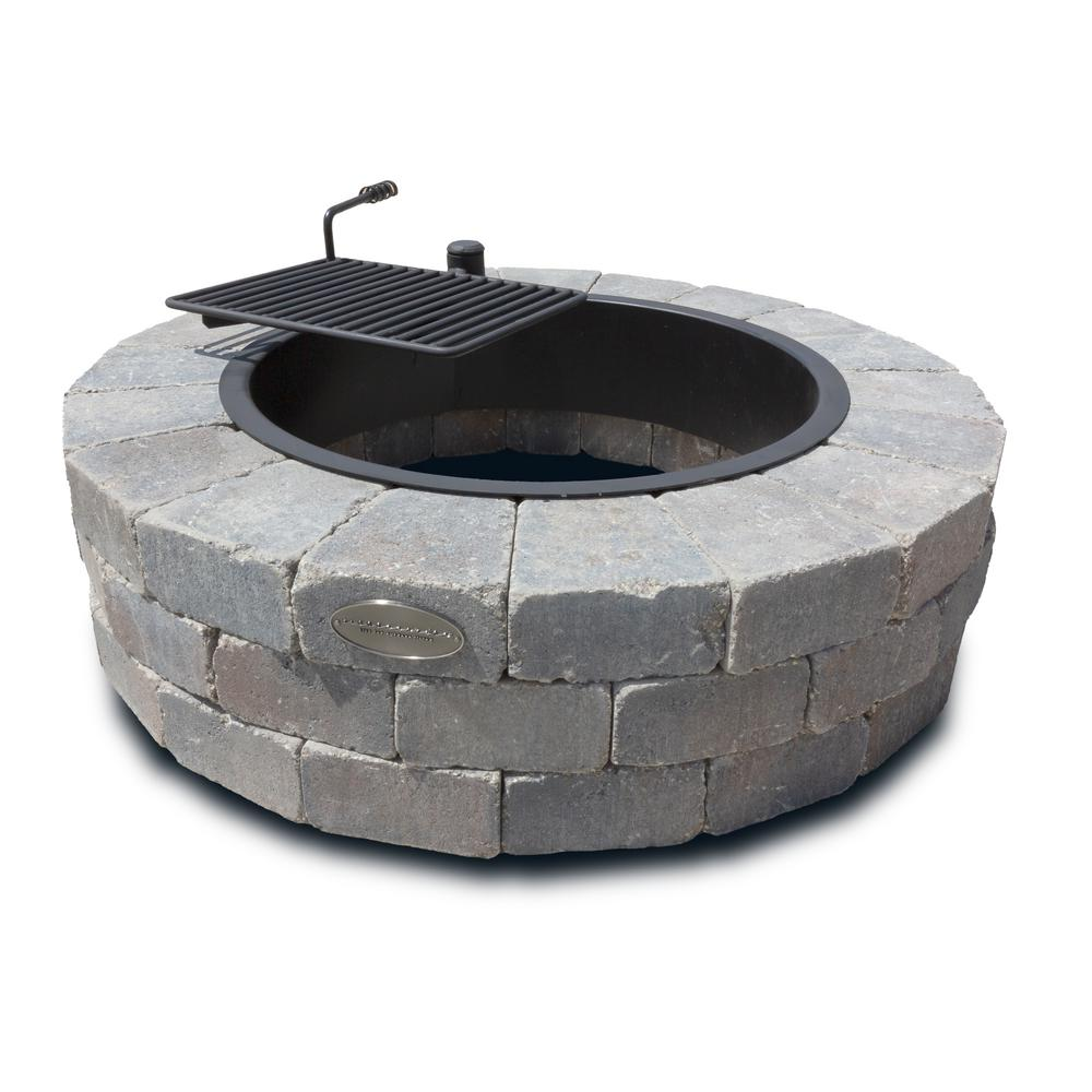 Necessories Grand 48 in. Fire Pit Kit in Bluestone with ...
