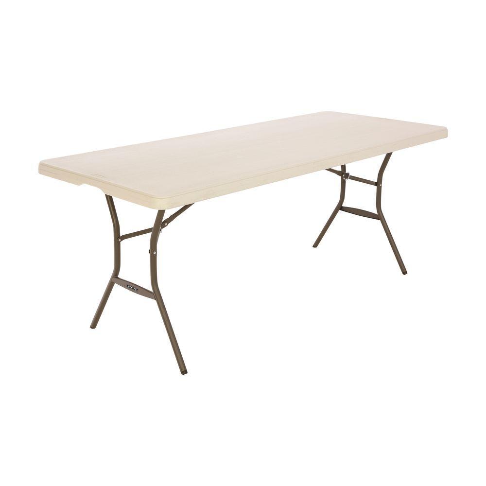 - Lifetime 6 Ft. Nesting Folding Table; Almond-80456 - The Home Depot