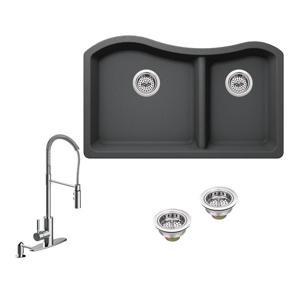 Ipt sink company all in one undermount granite composite 32 12 in ipt sink company all in one undermount granite composite 32 12 workwithnaturefo