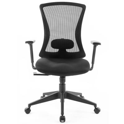 Black Reclining Mesh Swivel Chair for Home and Office