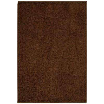 Value Plush Coffee Bean 8 ft. x 12 ft. Area Rug