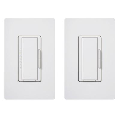 Maestro LED+ Dimmer Switch Kit for Dimmable LED, Halogen and Incandescent Bulbs, 3-Way or Multi-Location, White