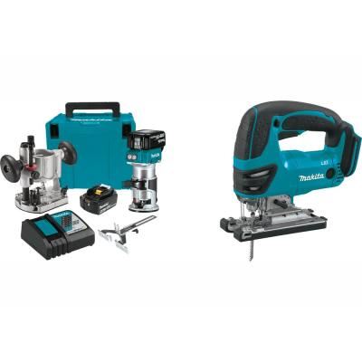 5.0 Ah 18-Volt LXT Lithium-Ion Brushless Cordless Compact Router Kit with Bonus Cordless Jig Saw