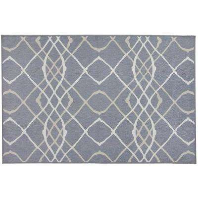 Washable Amara Grey 3 ft. x 5 ft. Stain Resistant Accent Rug