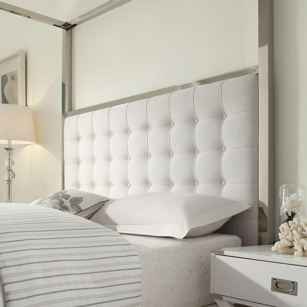 Internet #206375108. HomeSullivan Taraval White Queen Canopy Bed