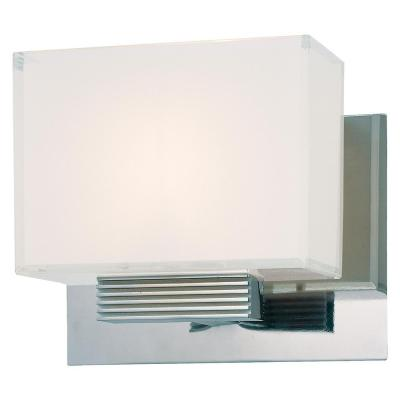 Cubism 1-Light Chrome Bath Light