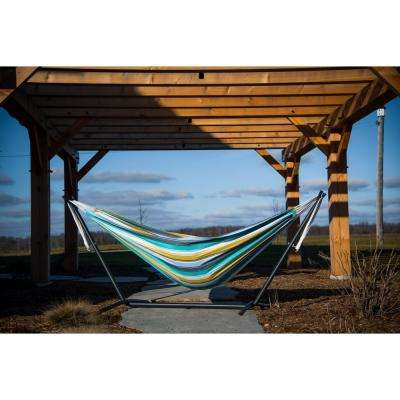9 ft. Cotton Double Hammock with Stand in Cayo Reef