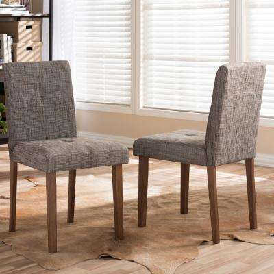 Charmant Elsa Gray Fabric Upholstered Dining Chairs (Set Of 2)
