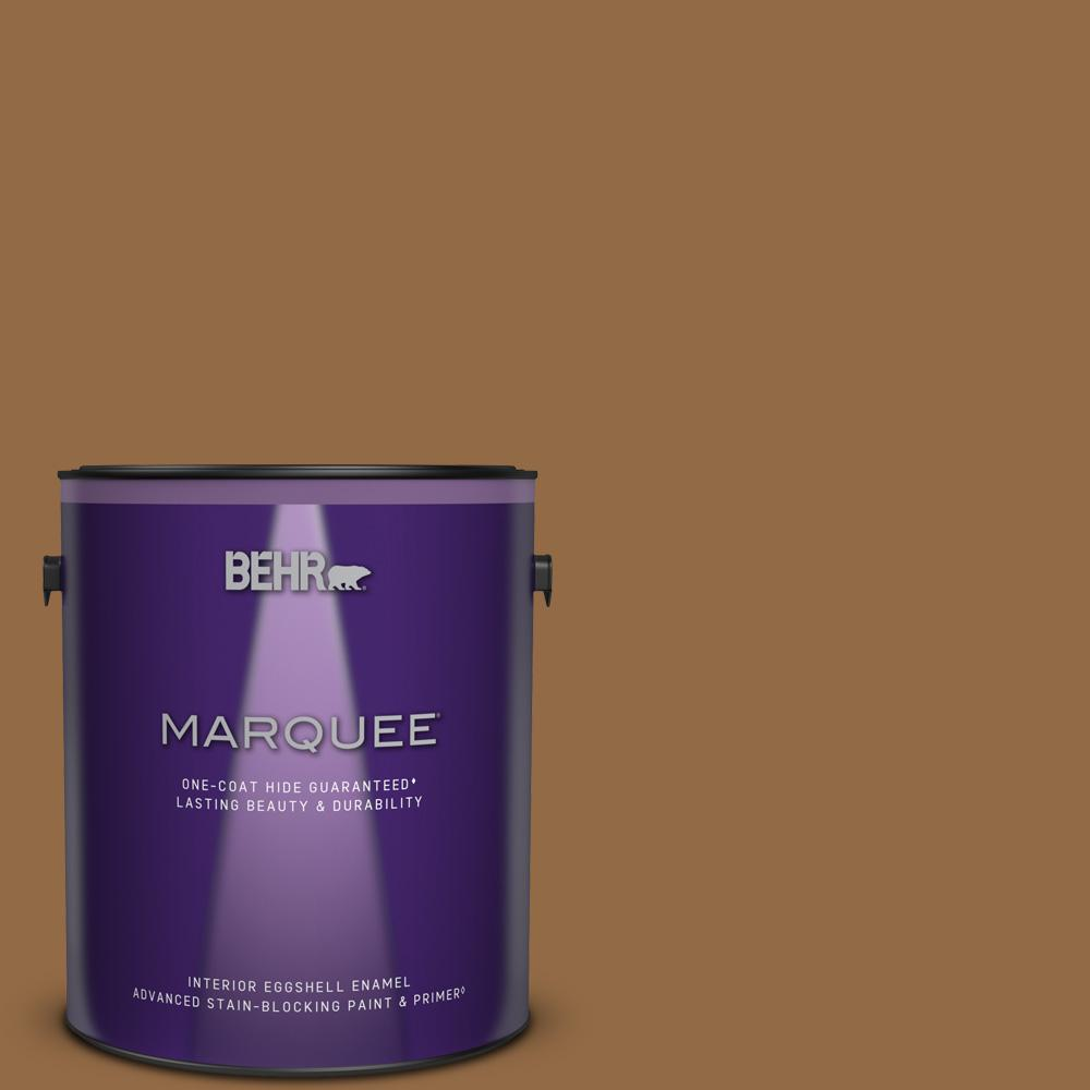 Behr Marquee 1 Gal Qe 31 Barcelona Brown Eggshell Enamel Interior Paint And Primer In One 245301 The Home Depot