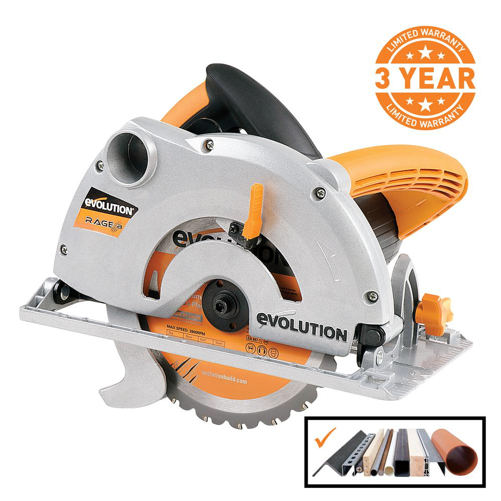 Evolution Power Tools 10 Amp 7 1 4 In Multi Purpose