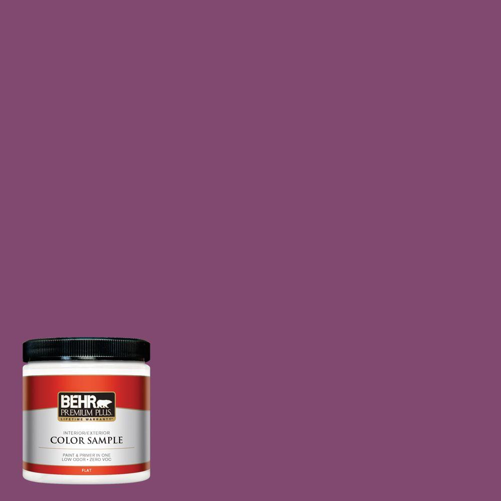 BEHR Premium Plus 8 oz. #680B-7 Sugar Plum Interior/Exterior Paint ...