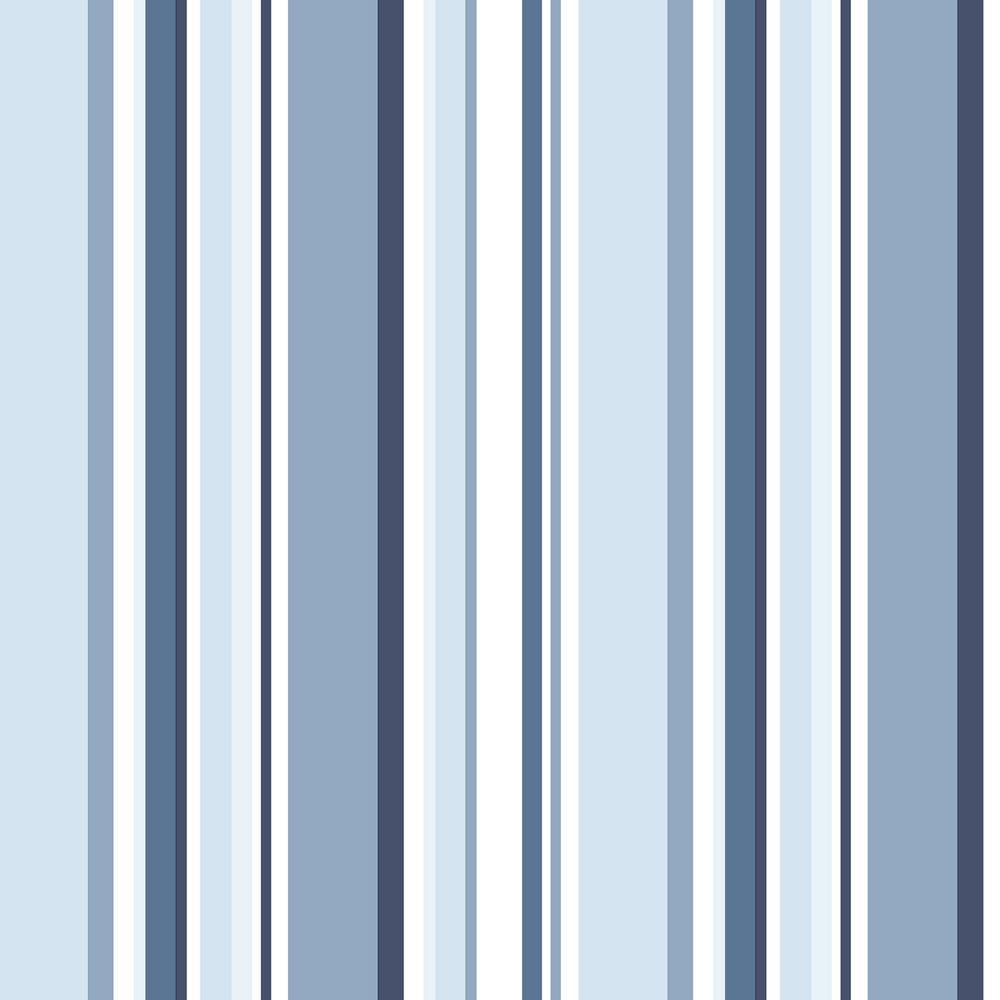 Step Navy Blue Stripe Wallpaper